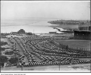 Maple Leaf Stadium parking lot, foot of Bathurst Street. - [ca. 1932]