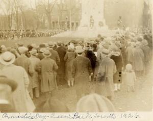 Armistice Day Queen's Park 1926