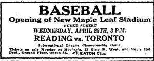 Baseball ad