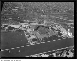 Aerial picture Maple Leaf Stadium