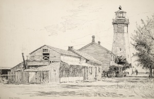 Lighthouse and keeper's house 1894
