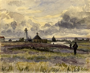 Lighthouse and school 1890