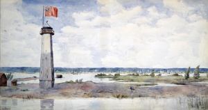 Reproduction of A View of York (Toronto) Upper Canada, 1820