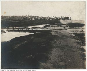 View from lighthouse looking east 1899