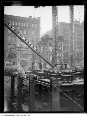 Canadian Bank of Commerce, steel work looking south. - July 24, 1929