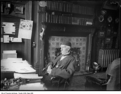 Professor Goldwin Smith in his study at The Grange. - [ca. 1909]